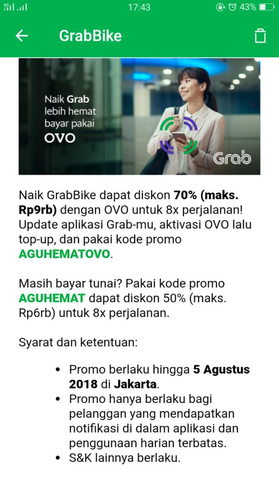 Promo Gojek Dan Grab Terbaru Di Agustus Oktober 2018