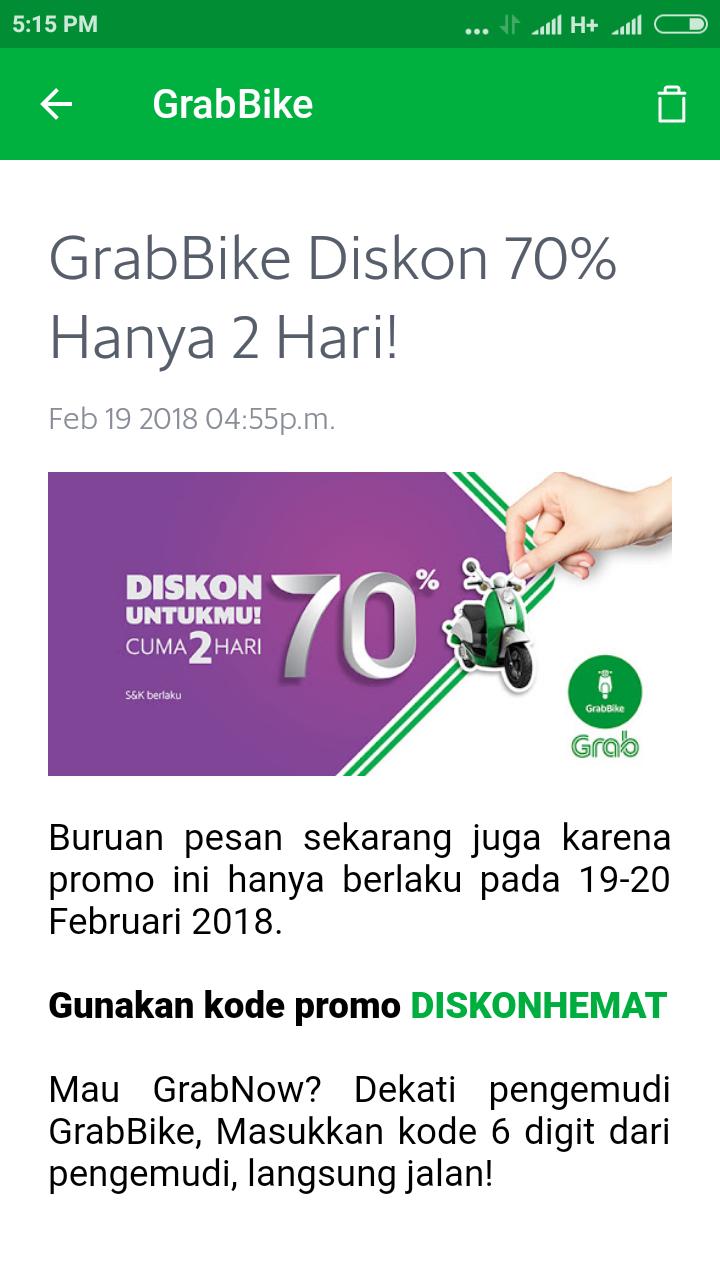 Promo Grabbike Bandung Hari Ini Ojek Online Grab