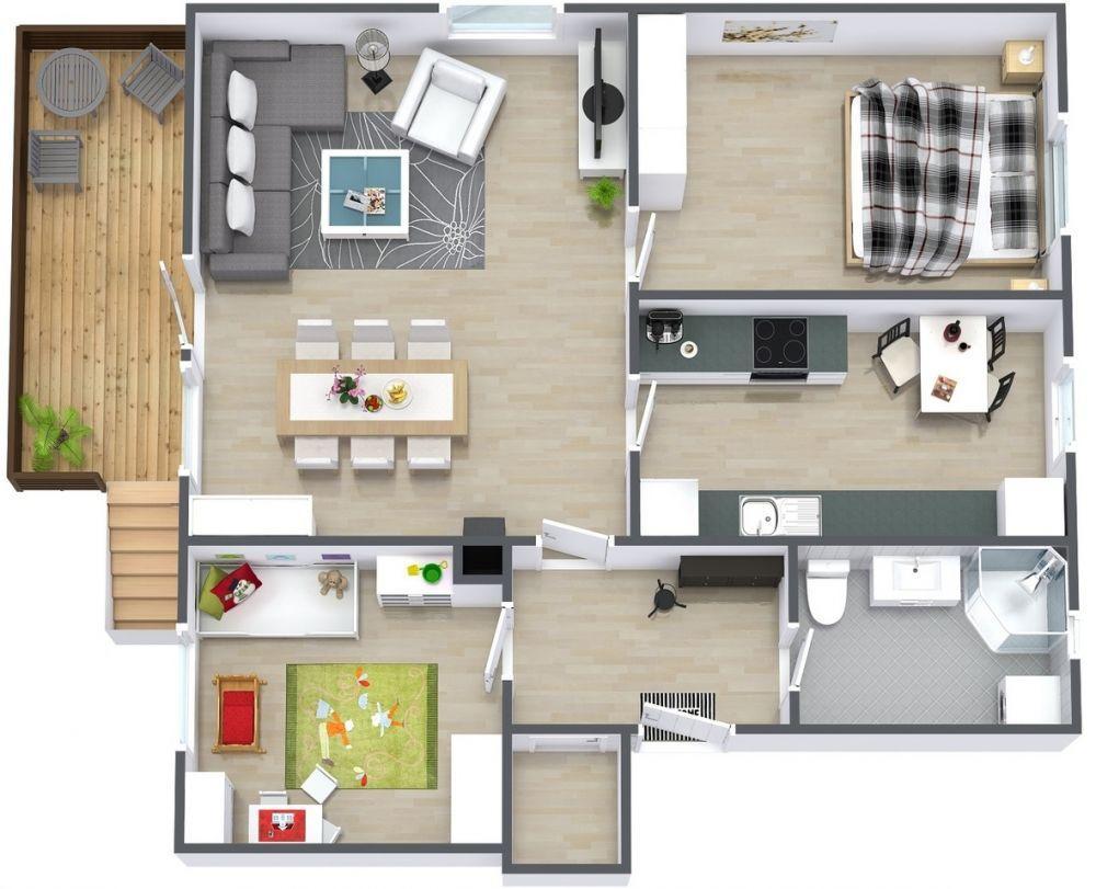 Desain Rumah Minimalis 2 Kamar Cocok Untuk Pengantin Baru Kurio