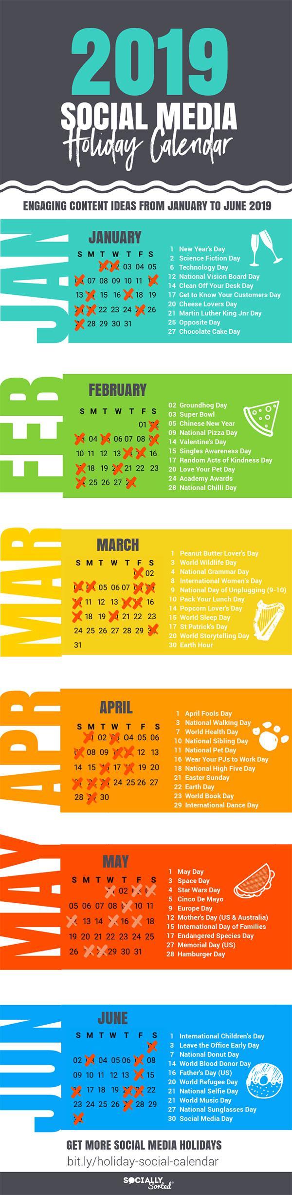 Awesome Social Media Content Calendar For 2019 Holidays