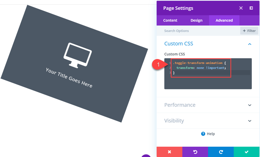 How to Toggle Divi Transform Properties on Click (with
