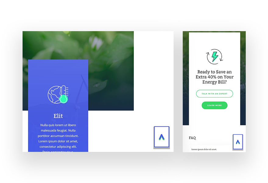 """How to Create Custom Sticky """"Back to Top"""" Designs with Divi"""