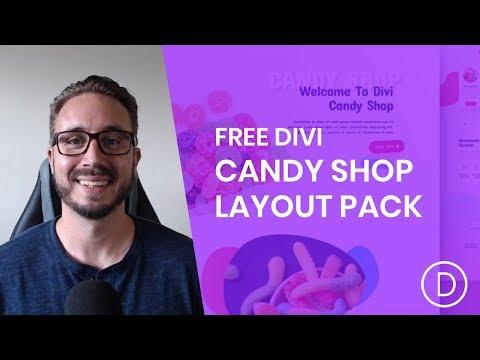 Get a FREE Candy Shop Layout Pack for Divi | KURIO