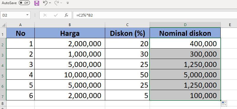 Cara Menghitung Persentase Di Microsoft Excel 2010 Kurio