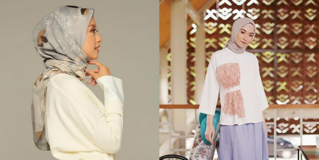 20 Cara Memakai Hijab Segi Empat Simple Dan Mudah Untuk Wajah Bulat Kurio