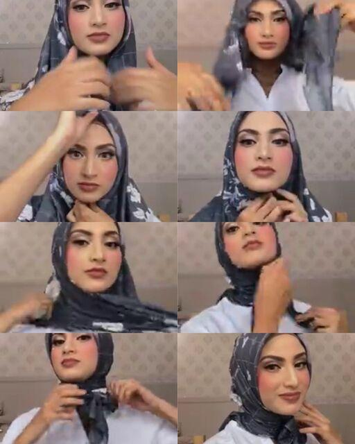 7 Tutorial Hijab Segi Empat Trendi Ala Selebgram Dan Artis Kurio